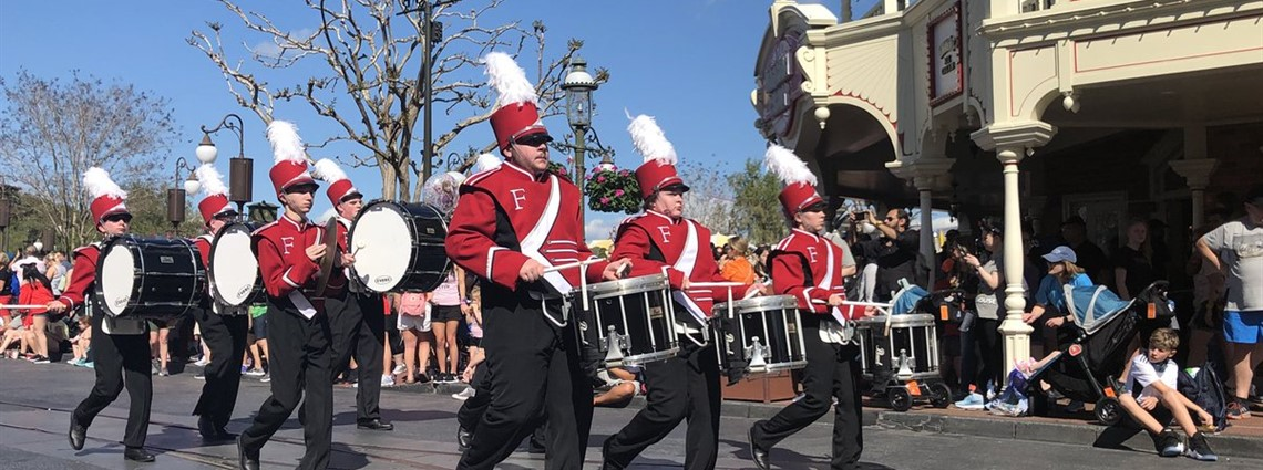 FAHS Band marches down Main Street in the Magic Kingdom today.  Awesome Job!!!